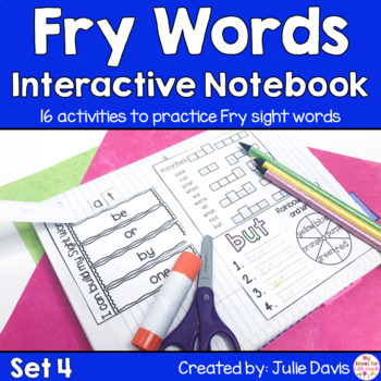 Fry First 100 Set 1 Sight Word Interactive Notebooks Set 4