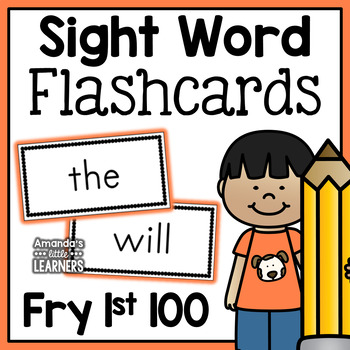 Fry First 100 Sight Word Flashcards - Free