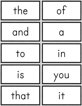 fry first 100 sight word flashcards free