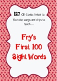 Fry First 100 Sight Word QR Codes