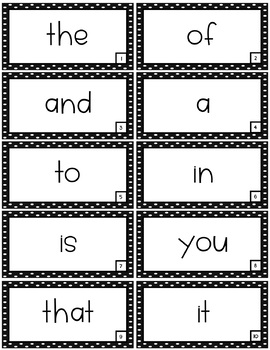 Fry First 100 Sight Word Rings and Assessment Kit