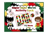 Fry First 100 Sight Words Activity Pack (Batman Theme)