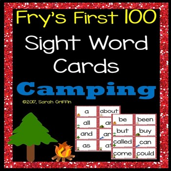 Fry First 100 Sight Words - Camping Theme