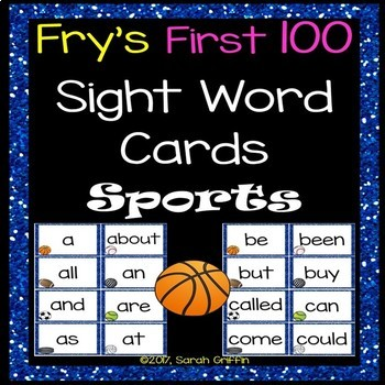 Fry First 100 Sight Words - Sports Theme