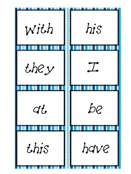 Fry's First 100 Sight Words Task Cards
