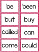 Fry First 100 Sight Words - Word Wall Cards - PINK Glitter