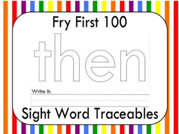 Fry First 100 Traceable Sight Words