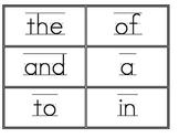 Fry First 100 Word Wall Words