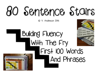 Fry First 100 Words/Phrases Sentence Stairs
