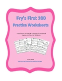 Fry First 100 Words Practice Worksheets