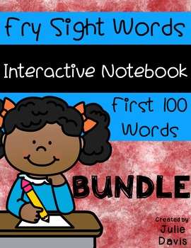 Fry First 100 Words Sight Word Interactive Notebooks Bundle