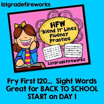 Fry First 120 Words Spelling Lists and Fluency Practice