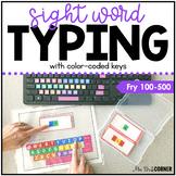Fry First 500 Sight Word Keyboarding | Sight Word Activiti
