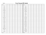 Fry First 500 Sight Words Progress Monitoring with certificate