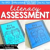 Fry First 500 Words + Sentences Assessment, Writing- Liter