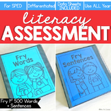 Fry First 500 Words + Sentences Assessment, Writing- Liter