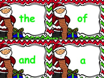 Fry First Hundred Santa Build a Sight Word