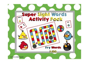 Fry First Hundred Sight Words Activity Pack (Angry Birds Theme)