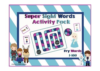 Fry First Hundred Sight Words Activity Pack (Frozen Theme)