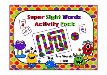 Fry First Hundred Sight Words Activity Pack  (Monster Theme)