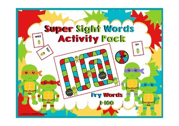 Fry First One Hundred Words Activity Pack (Ninja Turtle Theme)
