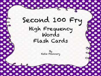 Fry Flash Cards (second 100)