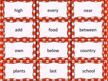 Fry Flash Cards (third 100)
