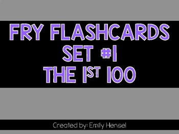 Fry Flashcards 1st 100