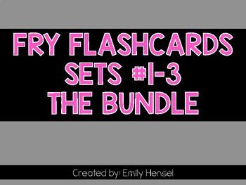 Fry Flashcards Sets 1-3 THE BUNDLE