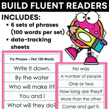 Reading Fluency Strips for Grades 3 - 5