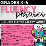 Reading Fluency Fans for Fry Words