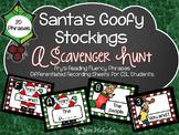 Fry Fluency Phrases {Scavenger Hunt - Santa's Goofy Stockings 20 Phrases}