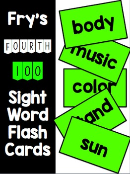 Fry Fourth 100 Flash Cards & Data Sheets