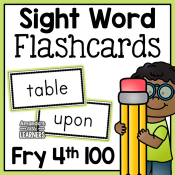 Fry Fourth Hundred Sight Word Flashcards