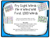 Fry High Frequency Word Wall Words First 1,000 Words