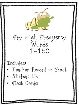 Fry High Frequency Words 1-150