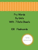 Fry High Frequency Words By Unit