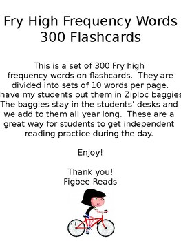 Fry High Frequency Words Flashcards