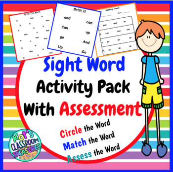 Fry High Frequency Words Packet- Cirlce It-Match it- Spelling Assesment