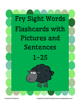 Fry Instant Sight Word Flashcards 1-25