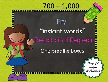 Fry Instant Words One Breath Boxes 700-1000