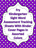 Fry Dot Kindergarten High Frequency Words Sight Word Assessment Tracking System