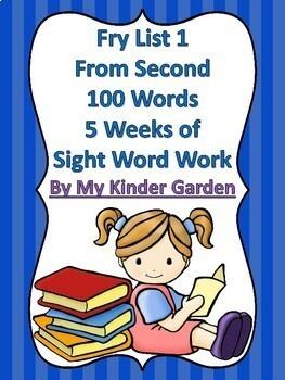 Fry List 1-4 Bundle 2nd 100 Words 20 Weeks High Frequency Sight Word Work