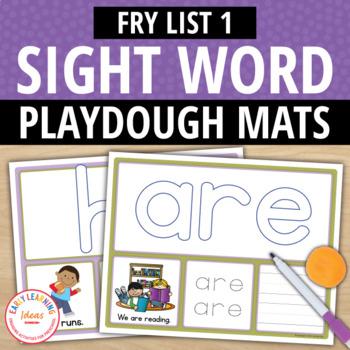 Fry List 1 Sight Word Play Dough Activity Mats