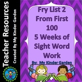Fry High Frequency Words List 2 from 1st 100 Words 5 Weeks of Sight Word Work