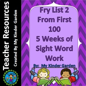 Fry List 2 from First 100 Words 5 Weeks of Sight Word Work