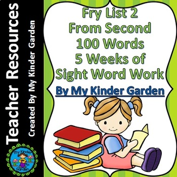 Fry High Frequency Words List 2 from 2nd 100 Words 5 Weeks of Sight Word Work