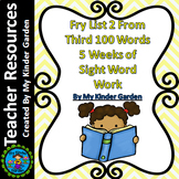 Fry High Frequency Words List 2 from 3rd 100 Words 5 Weeks of Sight Word Work