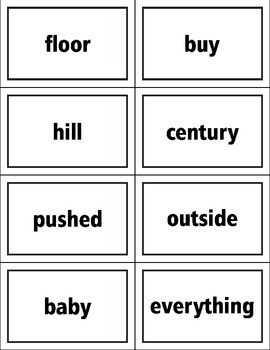 Fry List Seventh Hundred Words Flash Cards