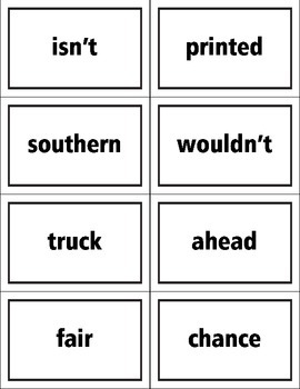 Fry List Tenth Hundred Words Flash Cards